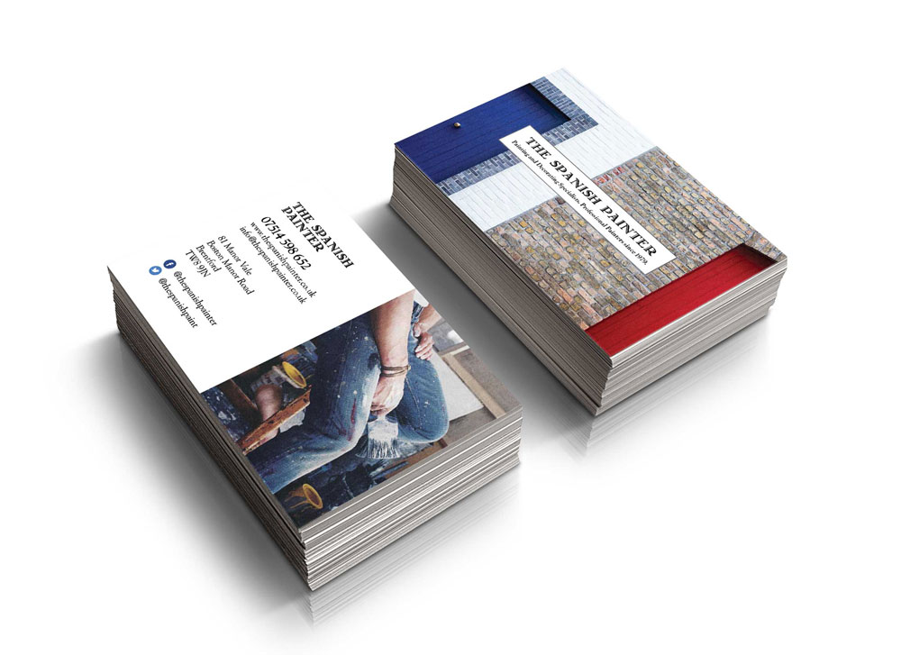 Business cards north london simplysigns ltd with variations available such as printing on recycled pulp creating spot uv highlights and offering different card sizes reheart Images